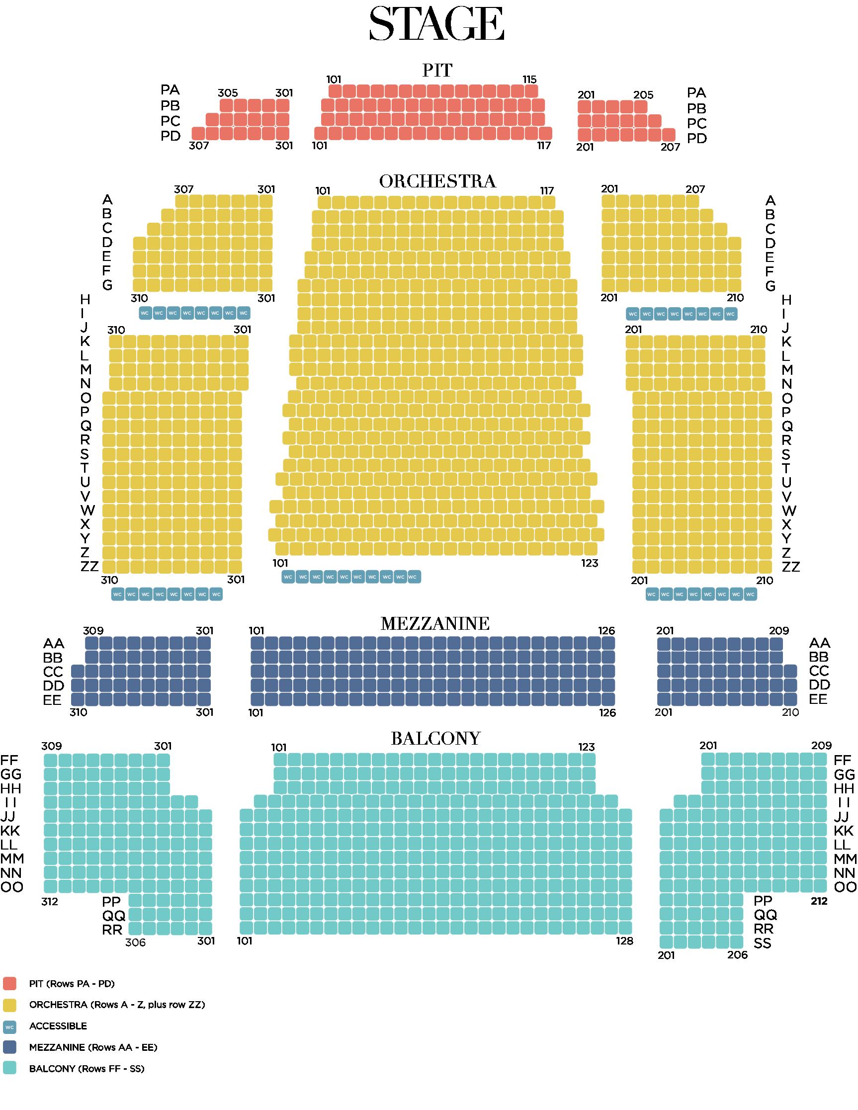 19-20 Seating Chart Levels