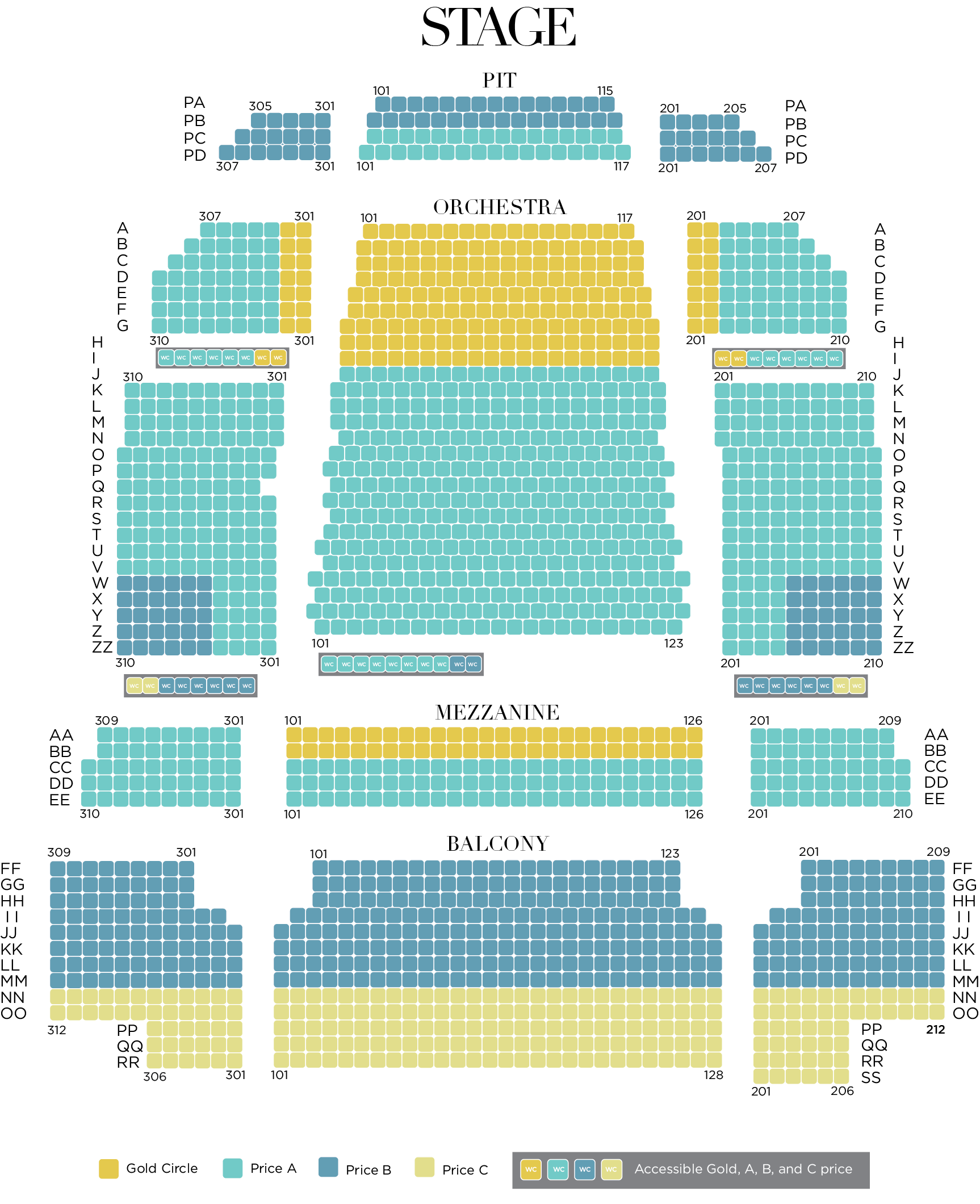 19-20 Pricing Seating Chart